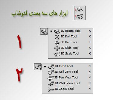ابزارهای سه بعدی فتوشاپ