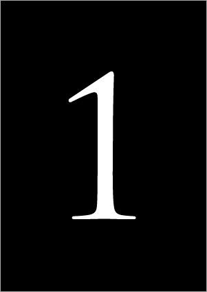 تایپ عدد 1 با ابزار Type