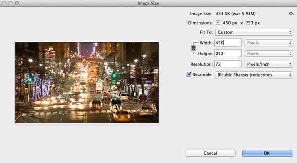 کم کردن حجم فایل GIF در فتوشاپ