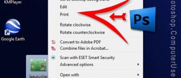 افزودن دستور Open with photoshop به منوی راست کلیک ویندوز